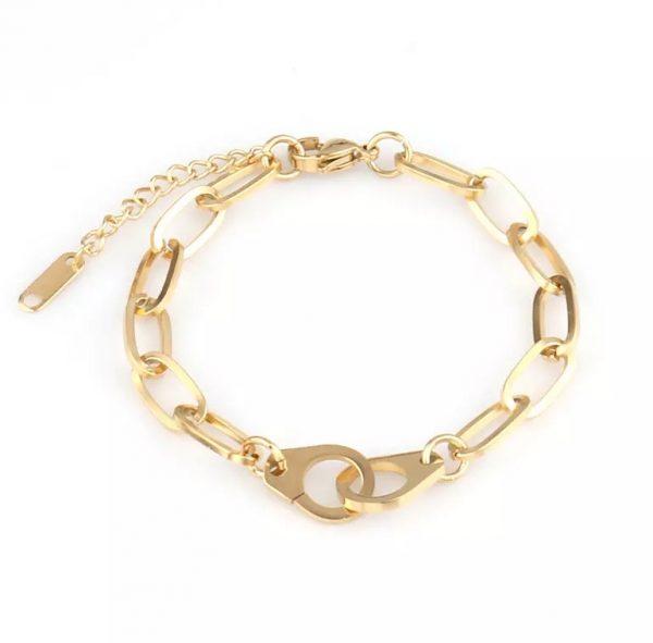 locked bracelet gold
