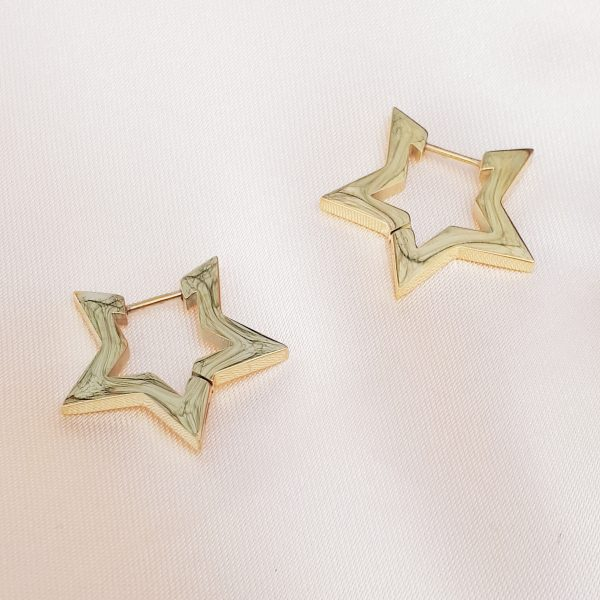 star errings gold