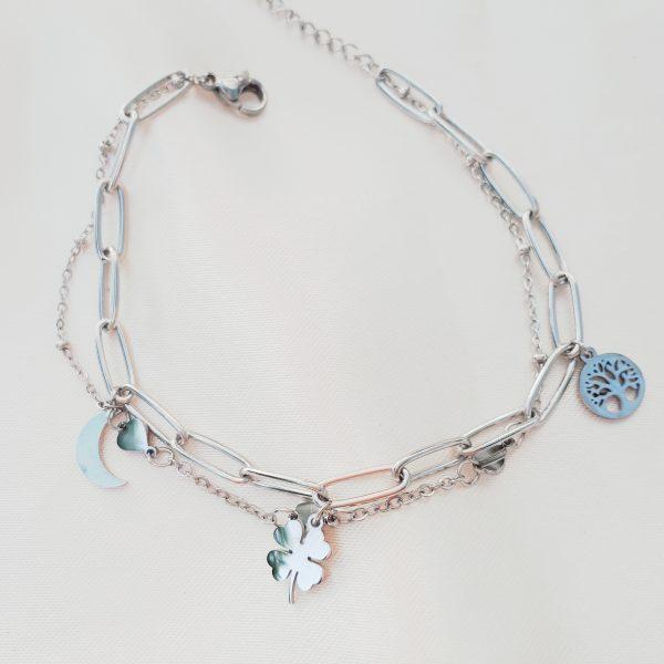 charm bracelet silver