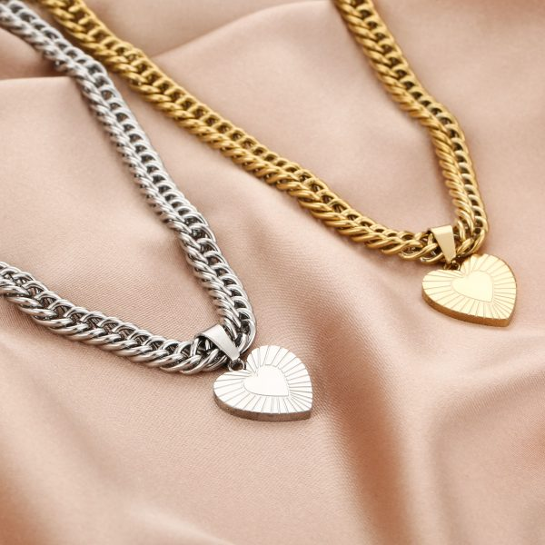 chunky heart necklaces