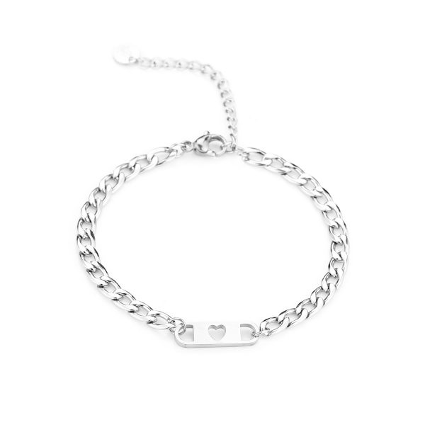 love chain bracelet silver
