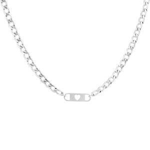 love chain necklace silver