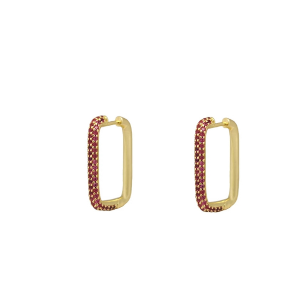 square strass hoops
