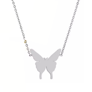 butterfly necklace silver