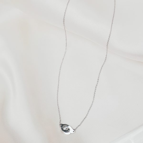 locked necklace silver