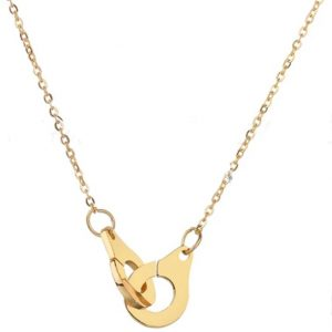 locked necklace gold