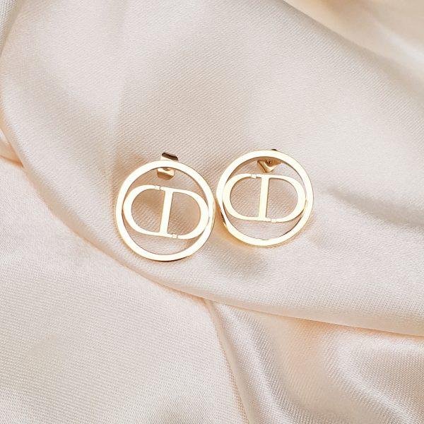 CD Earrings gold