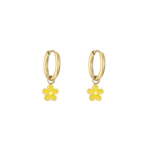 Daisy earrings yellow