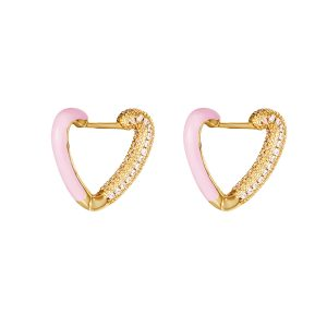 love me Earrings Pink