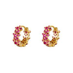 monarch earrings pink