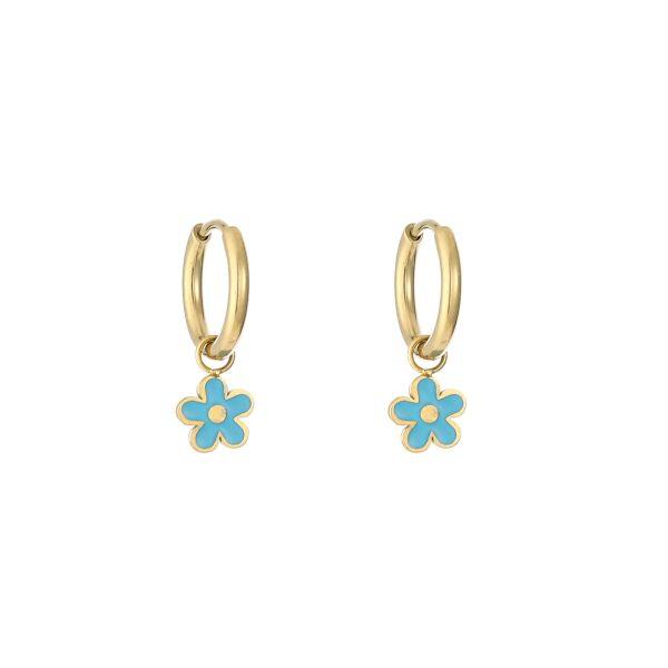 daisy earrings blue