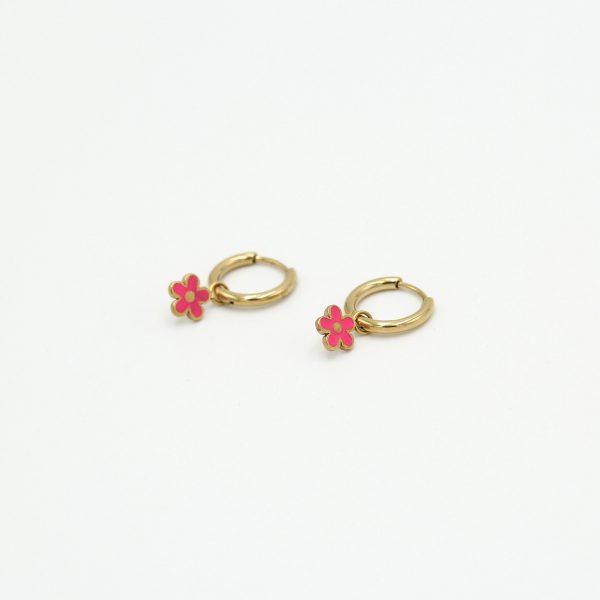 Daisy Earrings Pink