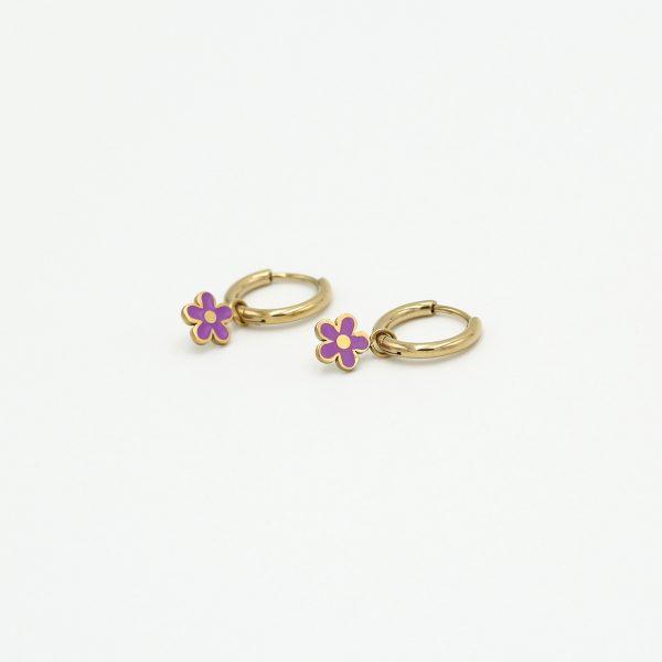 daisy earrings purple