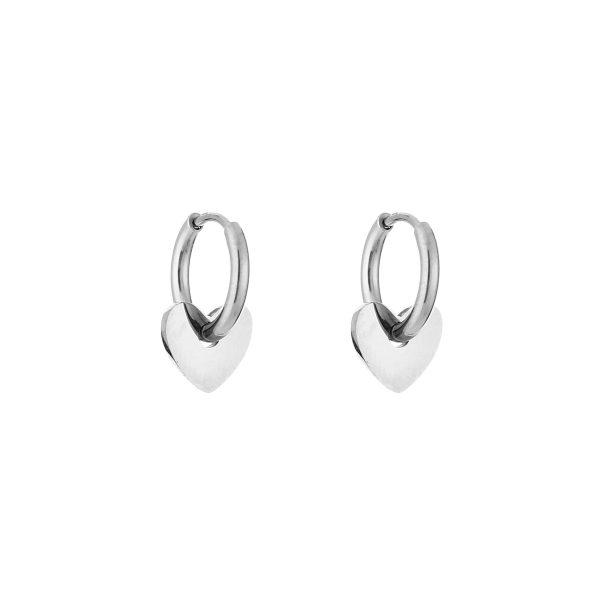 love earrings silver