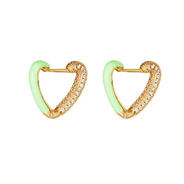 love me earrings green