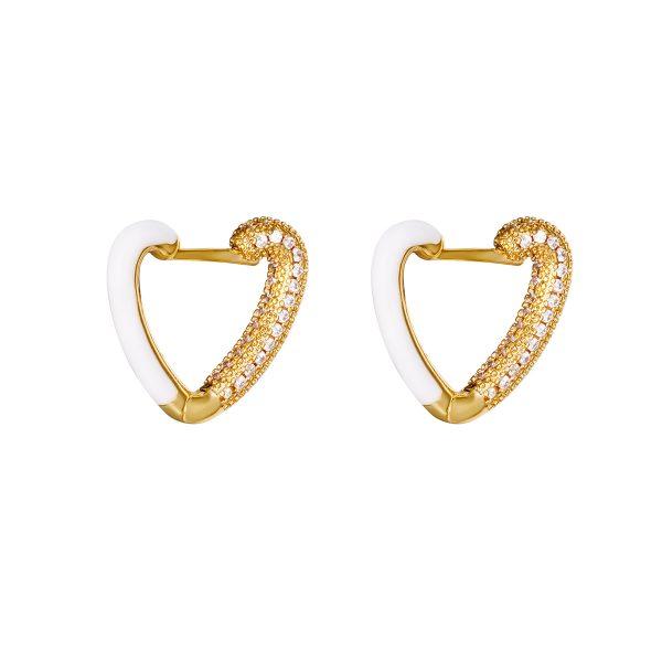 love me earrings white