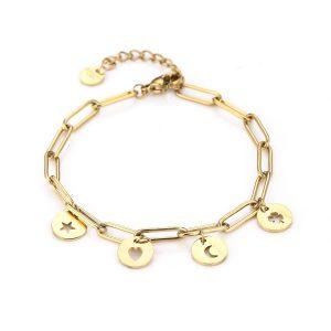 lovely charm bracelet gold