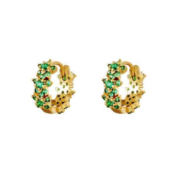 monarch earrings green