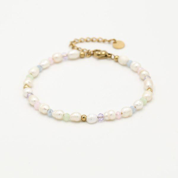 pastel pearl bracelet gold.