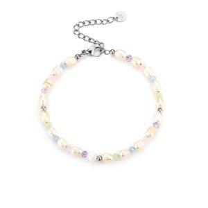 pastel pearl bracelet silver