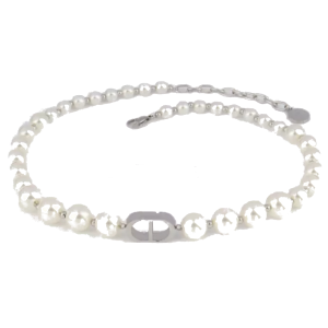 CD pearl necklace silver