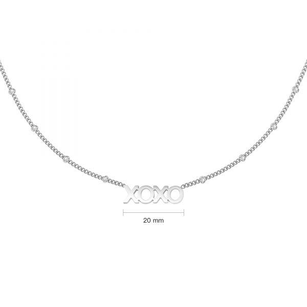xoxo necklace silver