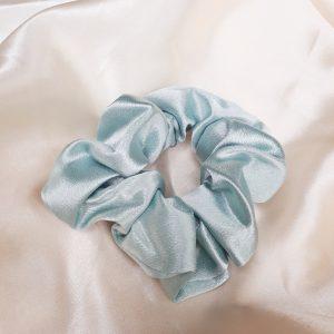 Pastel blue scrunchie