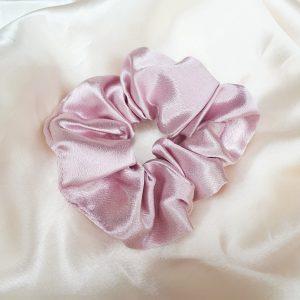 Pastel pink scrunchie