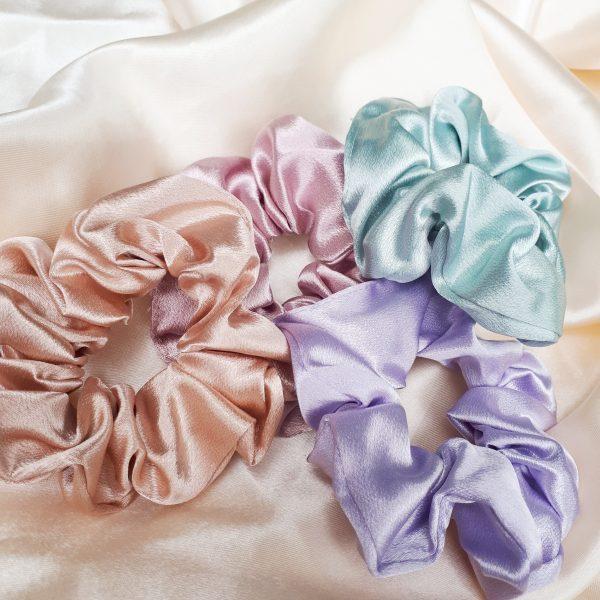 pastel scrunchies