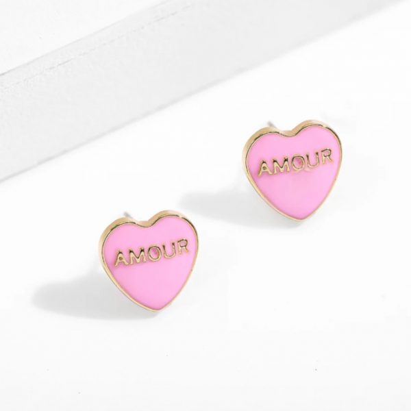 amour earstuds pink