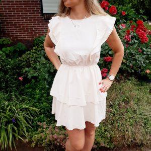 caitlyn dress off white