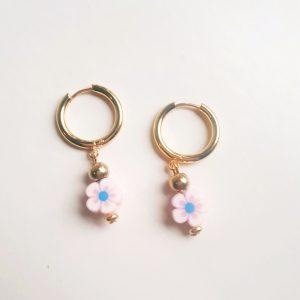 flower earrings pink