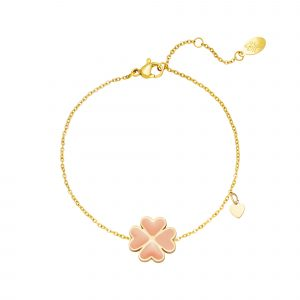 clover bracelet peach