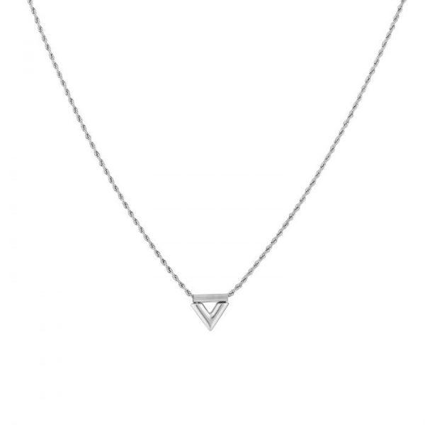 twisted v earrings silver