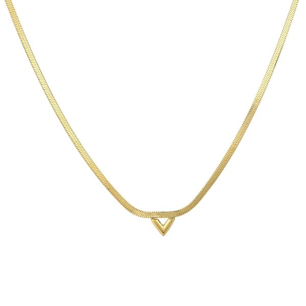 V necklace gold