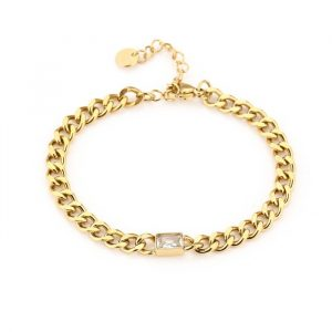 crystal chain bracelet gold
