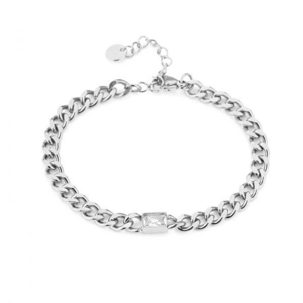 crystal chain bracelet silver