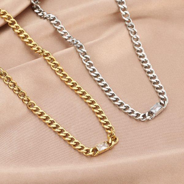 chunky crystal chain