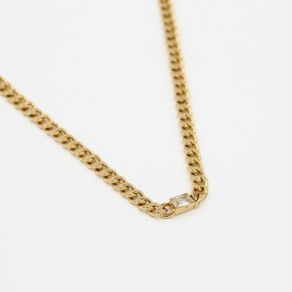 chunky crystal chain gold