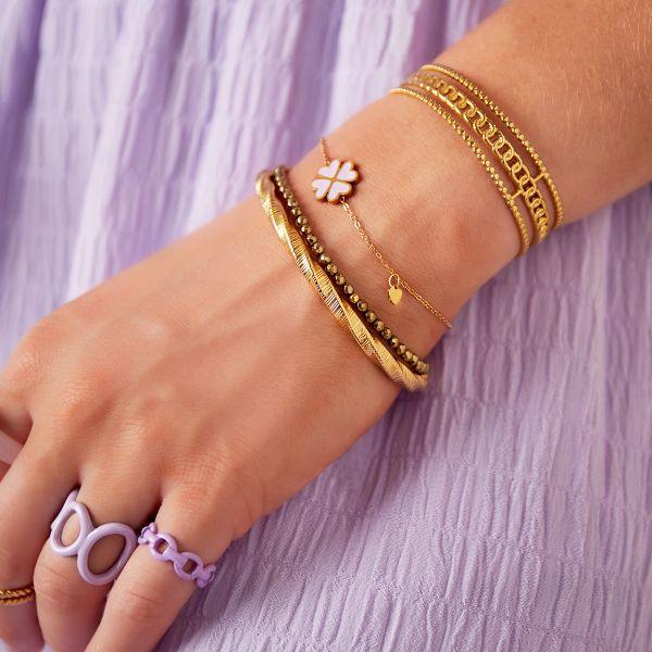 clover bracelet lila