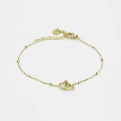 Double Heart Bracelet gold