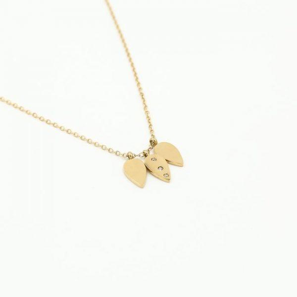 leaf necklace gold