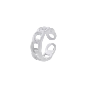 Color chain ring white