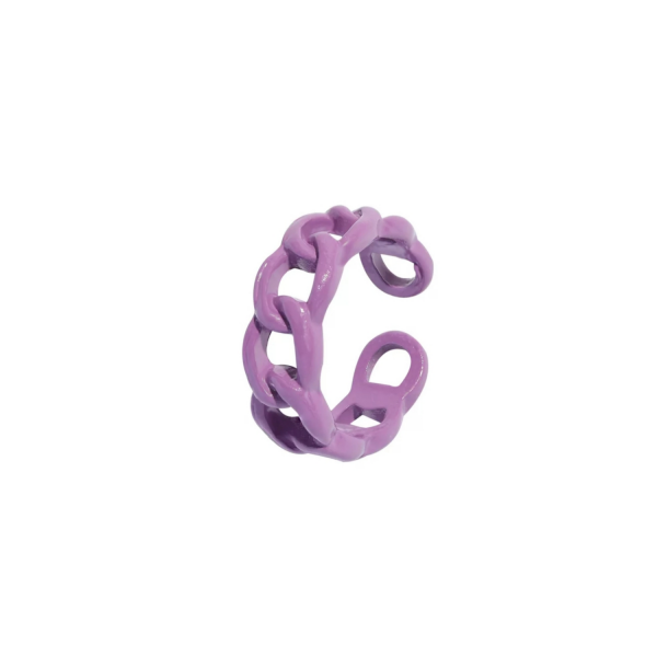 color chain ring purple
