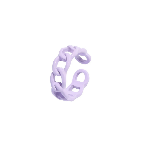 color chain ring lila