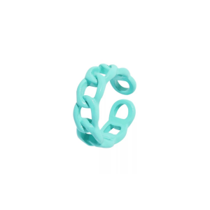 color chain ring blue