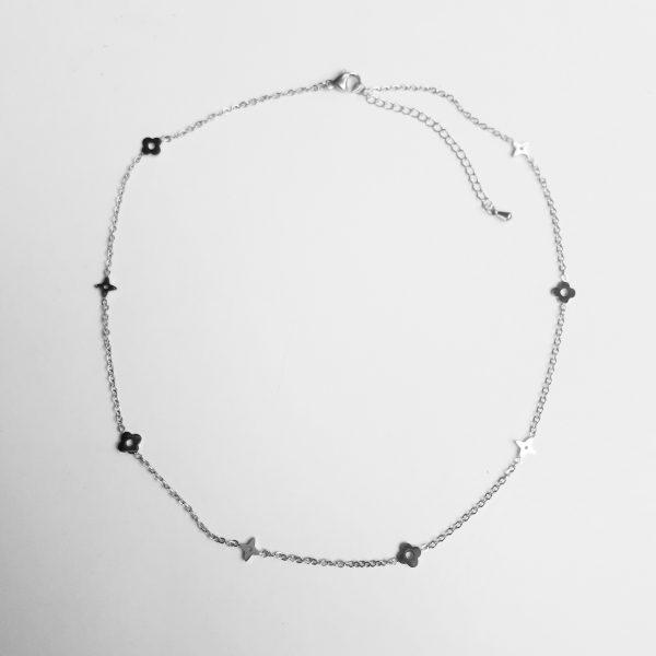 lv necklace silver