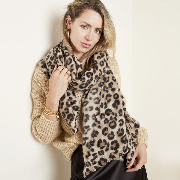 sjaal soft panter