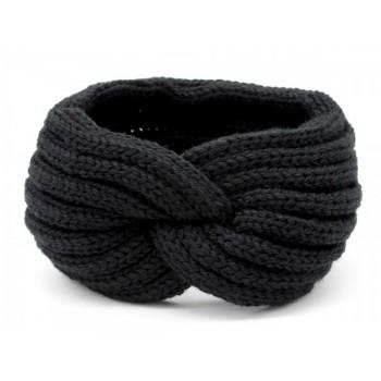 knitted headband black