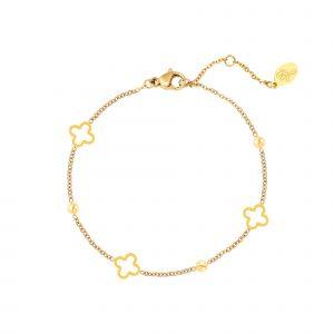 open clover bracelet gold